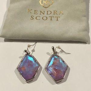 Kendra Scott Colorful Silver Drop Earrings